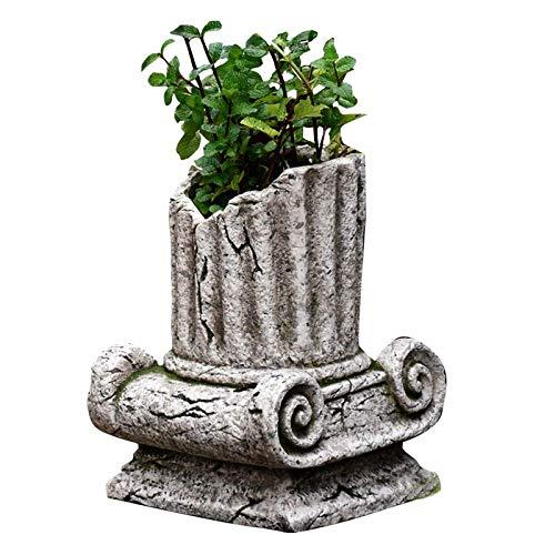 LXDDP Jardinera de Columna Romana Griega clásica Maceta de ángel Decoración de jardín