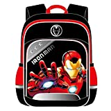 Lily&her Friends - Mochila escolar para niños, diseño de cómic, Capitán América, Spiderman, Ironman, mochila para escuela primaria, estudiante adolescente, Marvel Kids Vengadores - Ironman