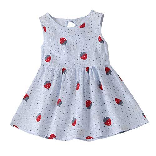 HEETEY Kleinkind Kinder Baby Mädchen Cartoon Erdbeer Prinzessin Sommerkleid Kleidung Blumenmädchenkleid Festlich Hochzeit Kleid Kleinkind Taufkleid Partykleid Festzug