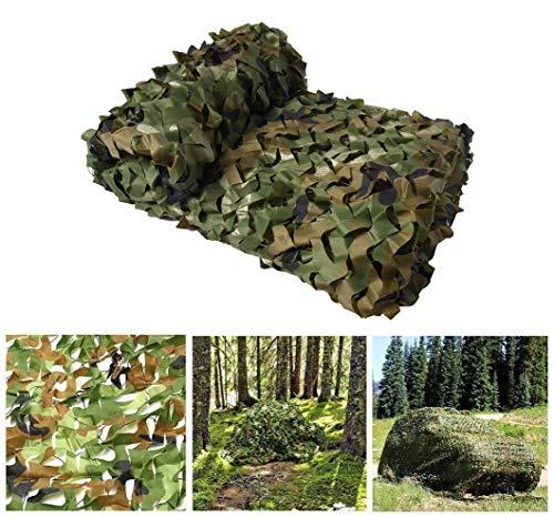 Lyy Home Red de Camuflaje Protección Solar Militar - Caza en La Selva Disparando Verde Sombra de Carpa de Camping Reforzada con Tela Oxford Tamaños Múltiples Malla de Camuflaje Sombreado