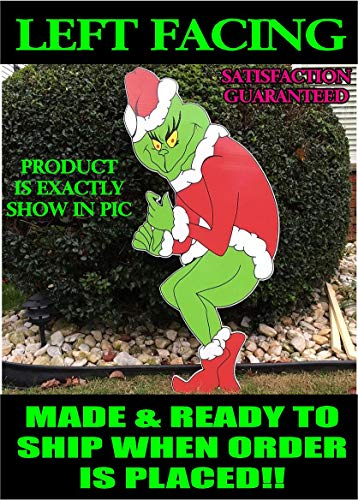 Grinch Stealing Christmas Lights LEFT FACING Yard Art FAST SHIPPING