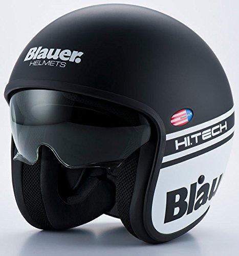 Helmets Pilot 1.1 H.T Casque Noir Mat Bleu Taille XL