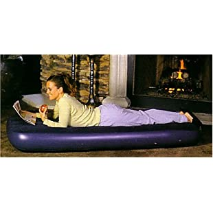 Flocked Single Air Bed with Built in Pump:Carsblog