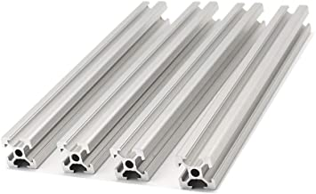 4pcs T Type 2020 European Standard Anodized Aluminum Profile Extrusion Linear Rail for 3D Printer Parts and CNC DIY Laser Engraving Machine 300mm(11.8inch)