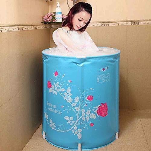Mlshbt bathtub Erwachsene Badewannen Faltbare tragbare Badewannen für Erwachsene Badewannen Kunststoff-Badewannen Heiße Eiswannen für den Außenbereich (Size : 58x65CM)
