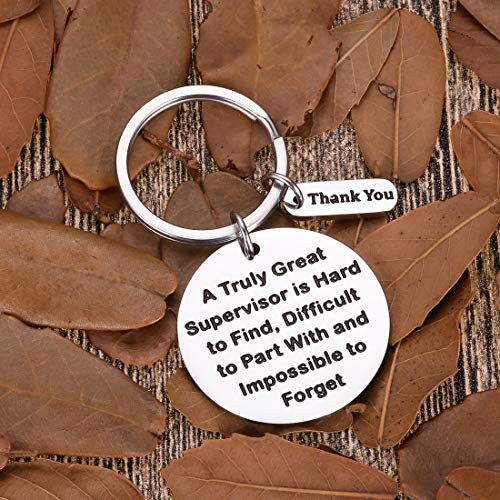 Supervisor Gifts For Christmas Women Men Office Keychain Appreciation Gifts For Mentor Leader Boss Day Birthday Thank You Leaving Going Away Gifts Retirement Coworker Boss Lady Goodbye Presents