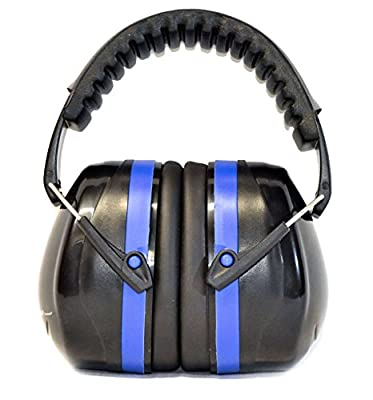 G & F Products 12020Blue 34dB Highest NRR Safety Muffs-Professional Defenders, Adjustable Headband Ear Protection Shooting Hearing Protector Earmuffs Fits Adults to Kids, Blue, ONE SIZE