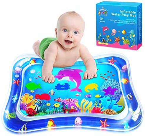 ZMLM Baby Tummy Time Water Mat Infant Toy Gift Activity Play Mat Inflatable Sensory Playmat product image