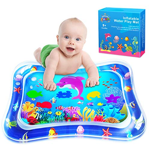 ZMLM Baby Tummy-Time Water Mat: Infant Toy Gift Activity Play Mat Inflatable Sensory Playmat Babies...