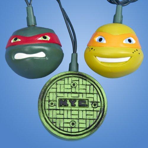 Kurt Adler 10 Teenage Mutant Ninja Turtles Novelty Christmas Lights - 10 ft Green Wire