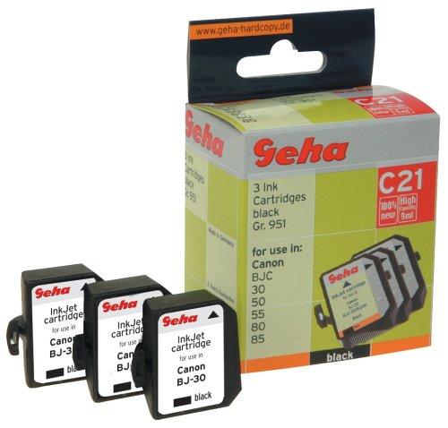 Geha Tintenpatrone für Canon ersetzt Nr. BCI-10BK schwarz