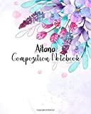 Aitana Composition Notebook: 100 Sheet 8x10 inches for Notes, Plan, Student, for Girls, Woman, Children and Initial name on Matte Flower Design Cover , Aitana Composition Notebook