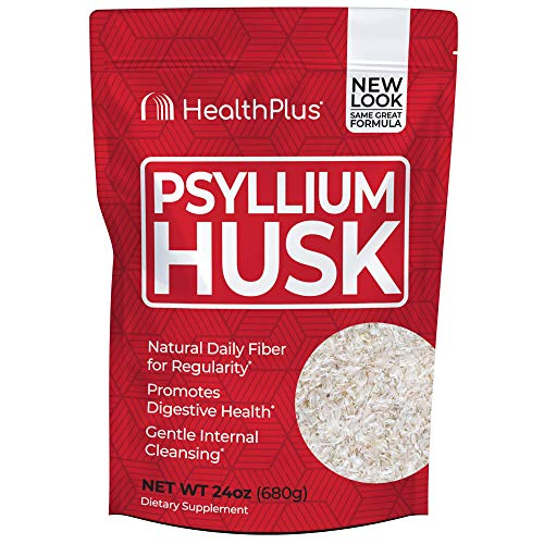 Health Plus Psyllium Husk - Weight Management - Detox, Natural Daily Fiber (24 Ounces, 96 Servings)