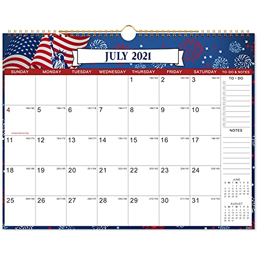 2021-2022 Calendar - 18 Monthly Wall Calendar 2021-2022 with Twin-Wire Binding, July 2021 - December 2022, 12 Different Patterns, 15