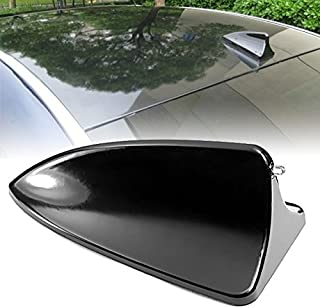 Hot Black Shark Fin Style Roof Top Mount Dummy Aerial Mast Decorative Antenna Sticker Universal Fit