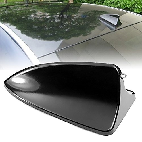 99Parts Hot Black Shark Fin Style Roof Top Mount Dummy Aerial Mast Decorative Antenna Sticker Universal Fit