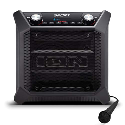 ION Audio - oplaadbare outdoor luidspreker met bluetooth streaming, USB-oplaadaansluiting, AUX-ingang en microfoon, 50W Sport