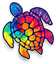 Sea Turtle Decal/sticker (rainbow tie dye)