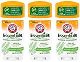 Arm & Hammer Essentials Natural Deodorant, Fresh - 2.5 oz - 3 pk