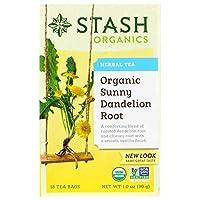 Stash Tea ハーブティー オーガニックサニータンポポの根 18ティーバッグ 1 0オンス 30 g