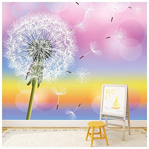 azutura Löwenzahn-Blume Fototapete Regenbogen Tapete Mädchen Kinderzimmer Dekor Erhältlich in 8 Größen Riesig Digital