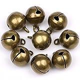 Glöckchen, 10 mm, bronzefarben, 100 Stück, kleine Glocke für Weihnachten, Basteln, Dekoration,...