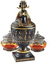 Design Toscano Horus The Egyptian Falcon Canopic Jar, Two Tone Black & Gold
