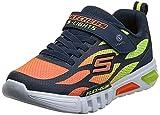 Skechers Flex-glow Dezlom, Zapatillas Niños, Azul (Navy/Orange), 28 EU