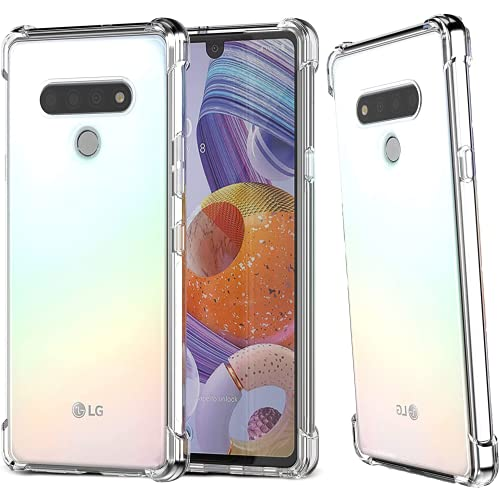 Calmseam for LG Stylo 6 Case, LG Stylo 6 Phone Case, Flexible Thin Cover, [Anti-Scratch] Ultra Slim Fit Soft TPU Rubber Shockproof Bumper, Clear Phone Case Protective Cover for LG Stylo 6