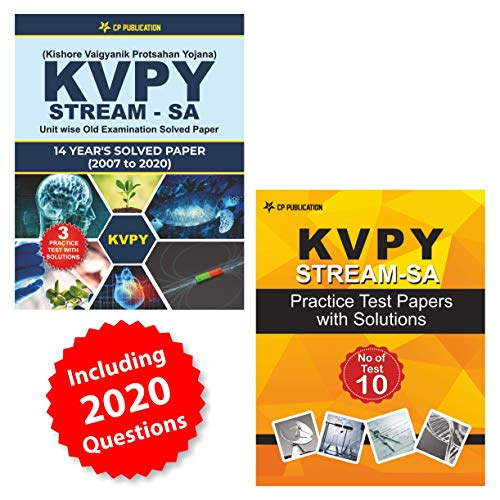 KVPY (Stream-SA) 13 Years Unit wise Old Examination Solved Paper (2007 to 2019) with 3 Practice Papers