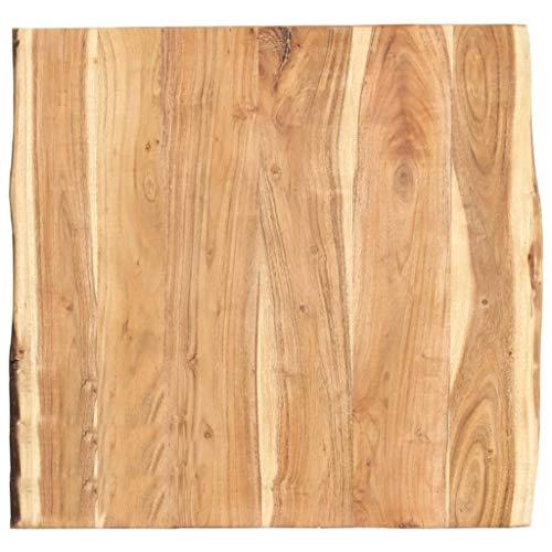 vidaXL Massivholz Tischplatte Baumkante Massivholzplatte Akazie 60x60x3,8 cm