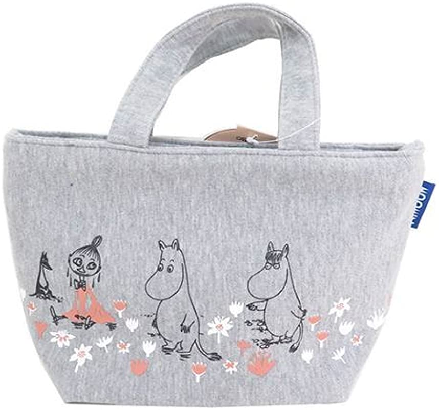 Moomin Sweat Cloth Lunch Tote Bag Flower Garden KNB1 From Japan