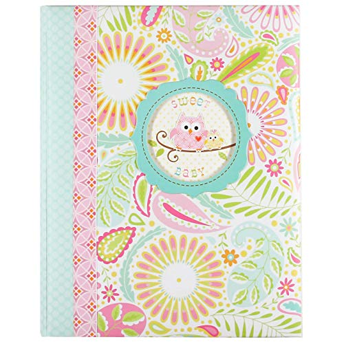 C.R. Gibson Sweet Baby Pink Owl First Five Years Girl Memory Baby Book, 64pgs, 10 W x 11.75 H