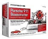 FRANZIS 67140 - Porsche 911 Boxermotor, hochwertiger Modell-Bausatz des klassischen 6-Zylinder Motors, Maßstab 1:4, 290 Bauteile zum Stecken und Schrauben, inkl. Soundmodul, Anleitung und Begleitbuch