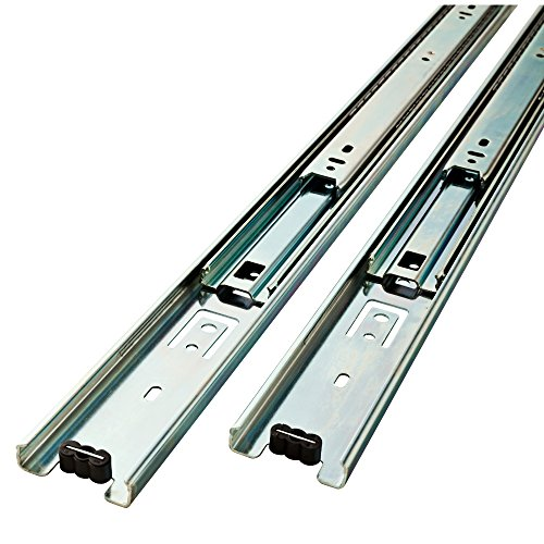 Liberty Hardware D80622C-ZP-W 22-Inch Ball Bearing Drawer Slides