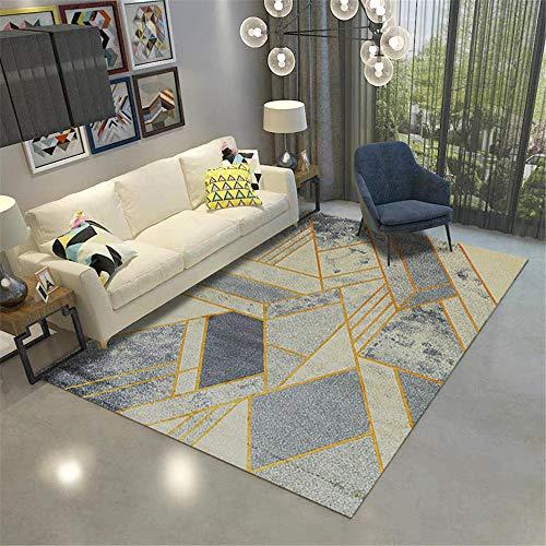 Alfombras alfombras de habitacion Infantil Piniendo el diseño geométrico Amarillo Gris Azul Sucio con la Alfombra Que se desvanece Alfombra para niños Decoracion habitacion Infantil 60*160CM