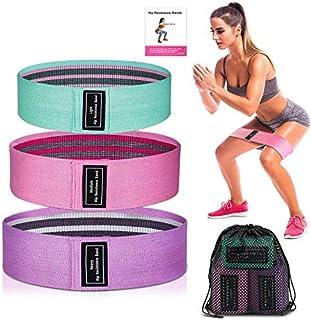 comprar comparacion LINJIA Bandas Elasticas Gluteos, 3 Bandas Elásticas Musculacion con 3 Niveles, Banda Elastica Fitness, para Piernas y Glút...