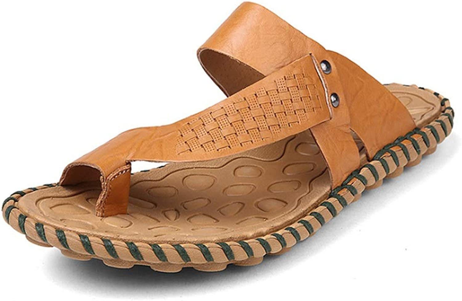 Slippers Summer Men's Outdoor Sports Leather Sandals Non-Slip Beach shoes Anti-Skid Breathable