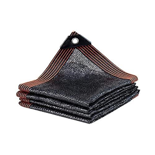 Shade Red Shade Net 90% Sunblock Shade Paño - Tarro de malla de la sombra del jardín para la cubierta de la planta, invernadero, gallinero, tomates, plantas Tarra de malla (Color: Negro, Tamaño: 12x12