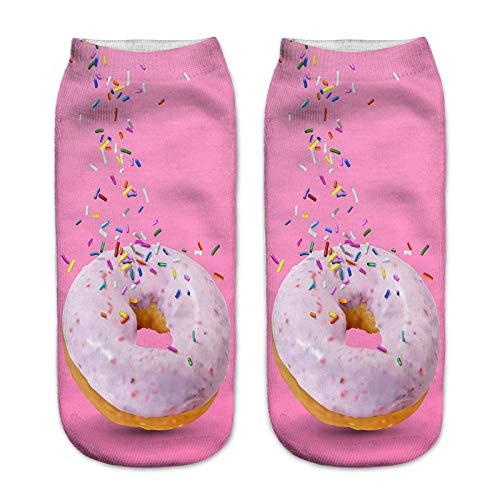 AIMICONG Calcetines Termicos Hombres Lindo Dibujo Animado Impreso En 3D Nutella Invierno Otoño Algodón Suave Unisex Novedad Divertida Navidad Halloween Regalo Calcetines J
