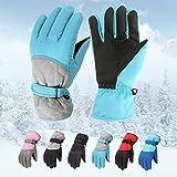 Snakell Kinder Handschuh Winter Skihandschuhe 6-12 Jahre, Geschenk für Junge MäDchen, Sport Outdoor Lauf Fahrrad Winterhandschuhe Warme Wasserdicht MotorräDer Handschuhe