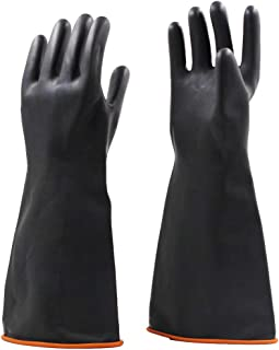 24 Length 43 mil Thickness Black Pack of 1 Pair Superior L6043 Barrage Latex Unlined Heavyweight Glove Size 10 24 Length Superior Glove Works Ltd L6043-10 Chemical Resistant Work
