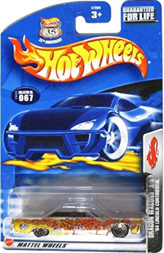 Mattel Hot Wheels 2003 1:64 Scale Gold 1964 Lincoln Continental Dragon Wagon 3/5 Die Cast Car #067