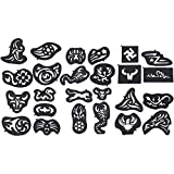 Professional Temporary Haircut Hair Styling Shaping Tattoo Stencil Hair Style Tool Roller 25PCS /set