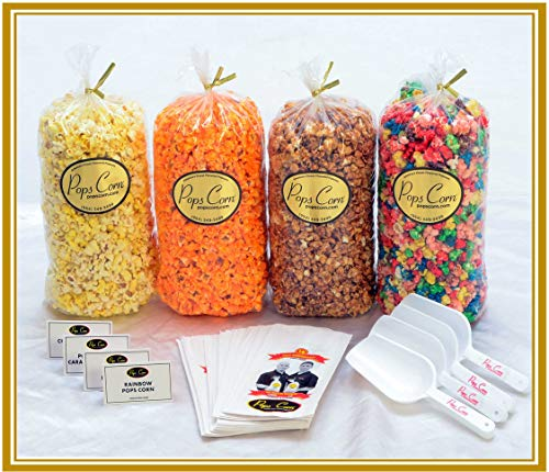 Fantastic Deal! Gourmet Popcorn Buffet- Party Pack-4 Amazing Flavors! 4 Sanitary scoopers! 4 Flavor ...