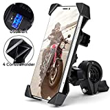 Motorcycle Phone Mount Holder with USB Charger Port...