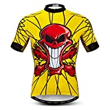 Maillot de ciclismo para hombre, manga corta, S-XXXL, puños de licra - - For Your Chest 40-42.5 (L)