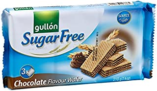 (pack of 4) Gullon Sugar Free Chocolate Wafer 7.4 oz (210g)