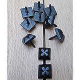 Chinchetas para decoraci/ón de u/ñas de metal sof/ás puertas zapatos 100 unidades proyectos de manualidades 1.00V para muebles de bronce