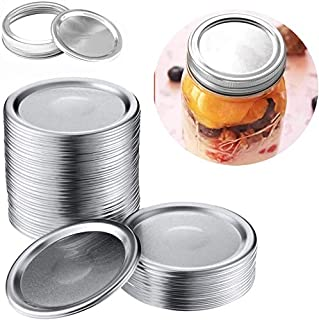 10 Pack Mason Jar Lids Anillo de boca ancha y Cover Sheet Canning Jars Lids with Bands Silver Mason Storage Split-Type Caps Leak Proof and Secure